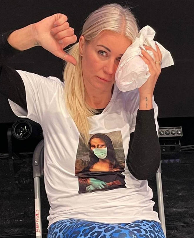 Denise Van Outen also suffered an injury while rehearsing