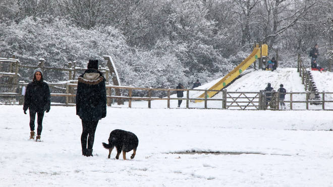 The UK enjoyed flurries of snow over the weekend