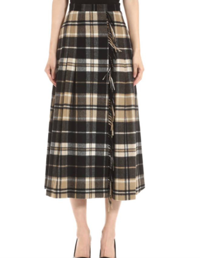 Holly Willoughby's plaid skirt is rented from Hurr