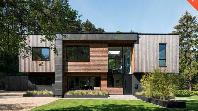 The incredible house is located in Farnham