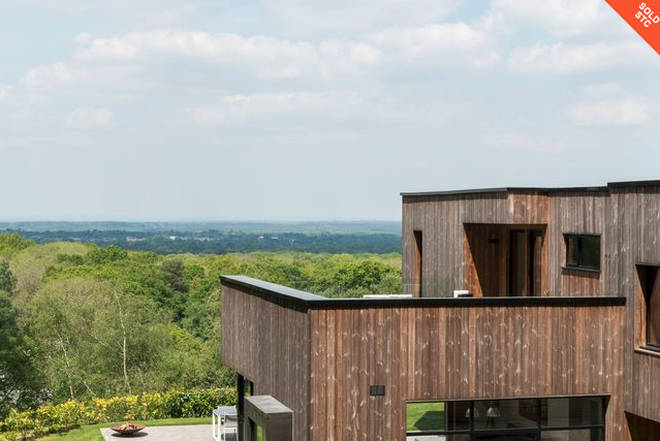 The house boasts unbelievable countryside views