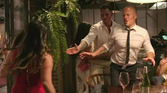 Cyrell threw her red wine over Martha's white dress on MAFS