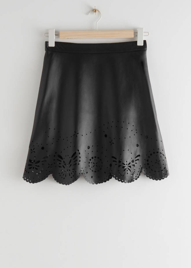 Holly Willoughby's laser-cut skirt is from & Other Stories