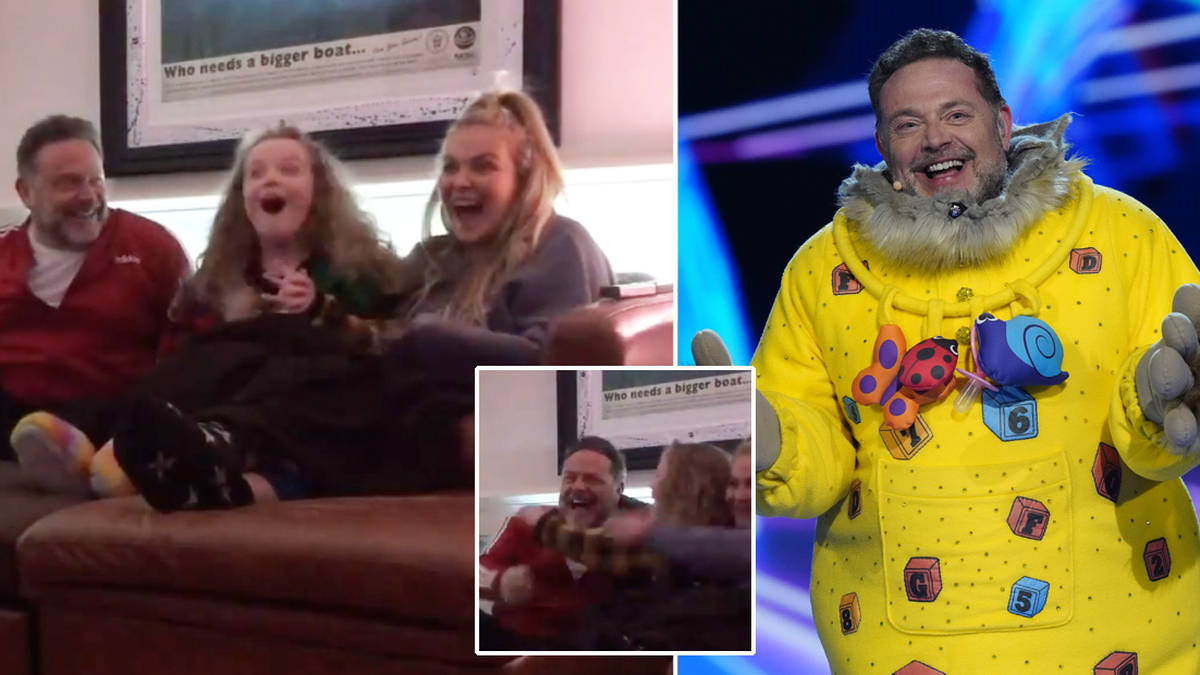 The Masked Singer's John Thomson shares video of daughters ...