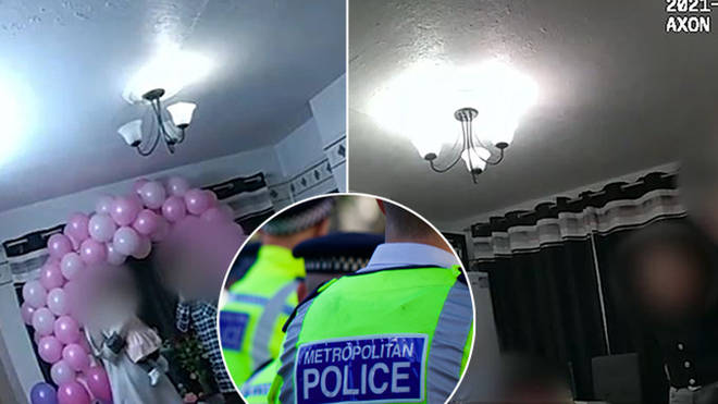 Police caught 20 people at a baby shower in London