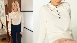 Holly Willoughby's jumper is from LK Bennett