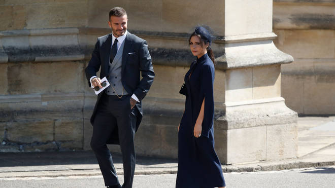 David and Victoria Beckham at the royal wedding of Prince Harry and Meghan Markle earlier in the year