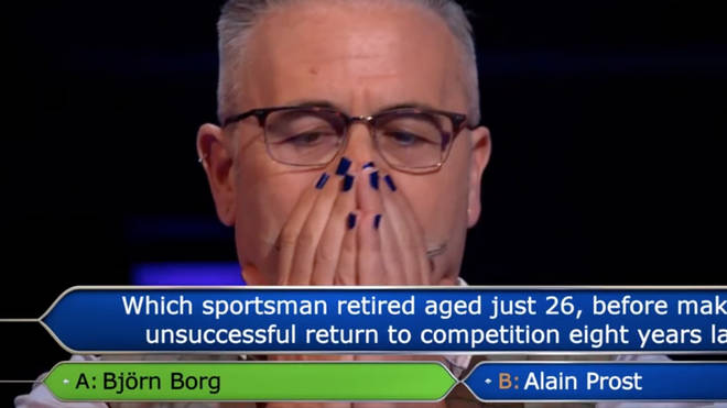 Justin went home with only £1,000 after losing £15,000 on the question
