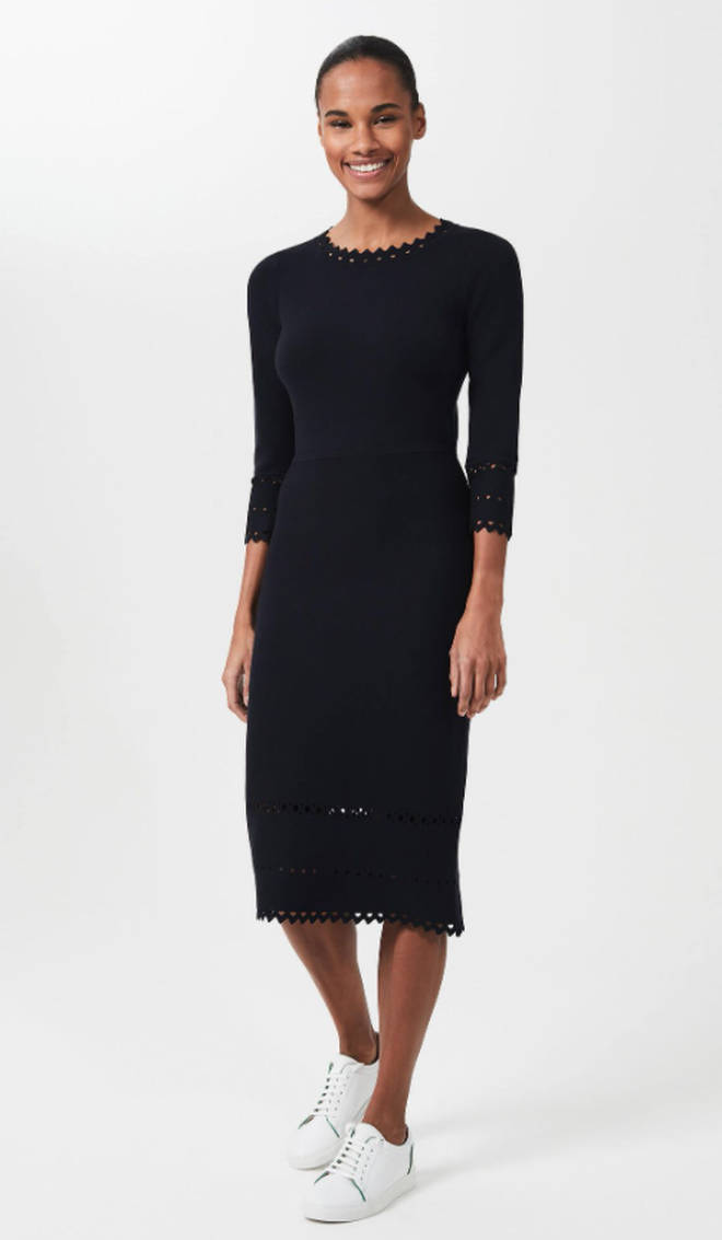Holly Willoughby's navy dress is from Hobbs London