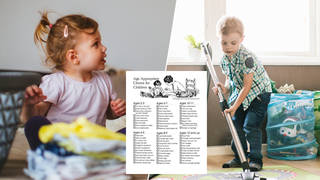 Parents are divided over this chores list