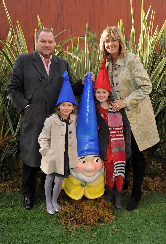 Jane, her husband Gary, youngest daughter Grace and a friend pictured at the Gnomeo and Juliet premiere in 2011