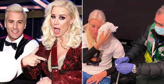 Why did Denise Van Outen leave Dancing On Ice?
