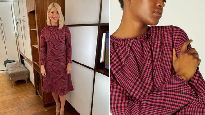 Holly Willoughby's dress is rented from Hurr