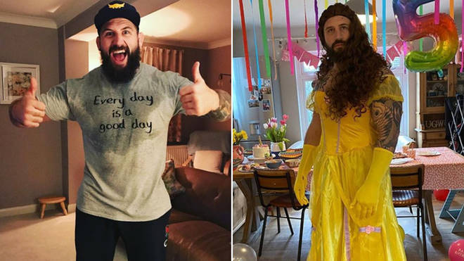 Joe Marler dressed up as Belle for his daughter's birthday