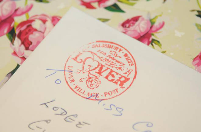The Valentine's Day cards will have this special stamp