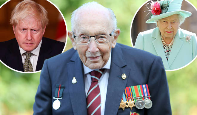 The Queen, Boris Johnson and David Beckham lead tributes to Captain Sir Tom Moore