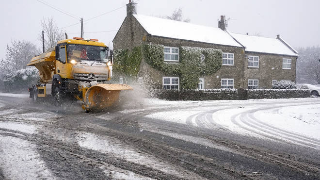 Heavy snowfall is causing travel chaos in the North