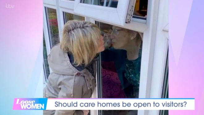 Ruth Langsford can see her mum through a window