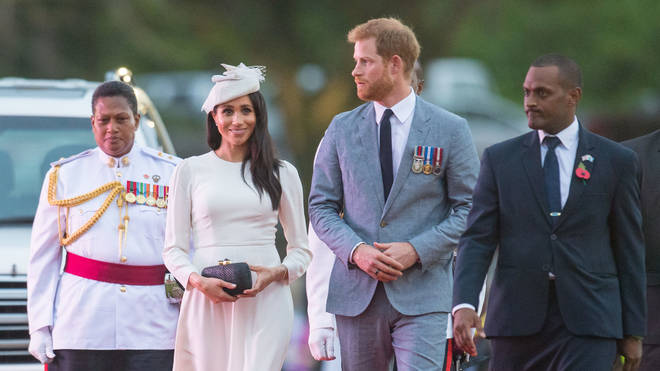 The Duke and Duchess of Sussex arrive in Fiji