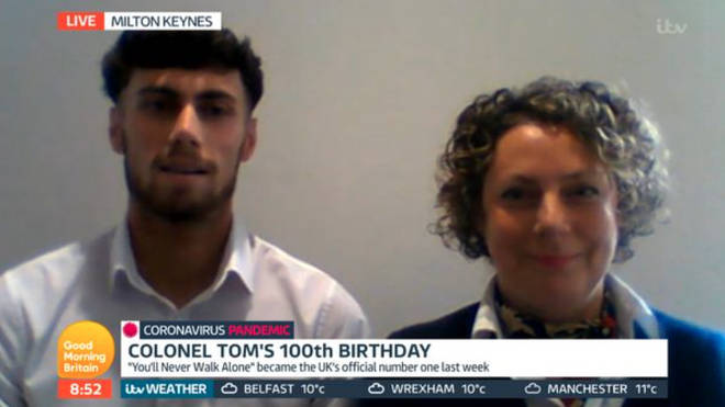 Tom Moore's grandson Max was on GMB