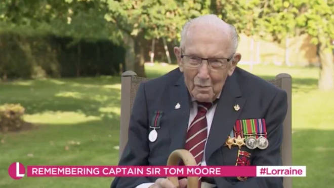 Captain Tom Moore was concerned that the reporter was cold without a coat on