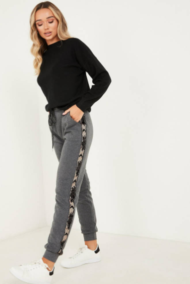 Sequinned joggers from Quiz