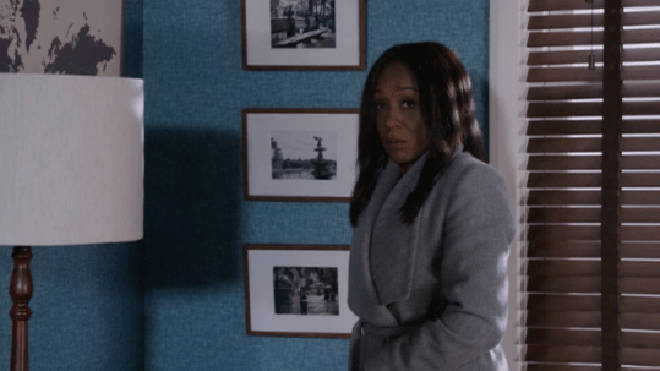 Denise Fox gets into a fiery argument with Lucas on EastEnders