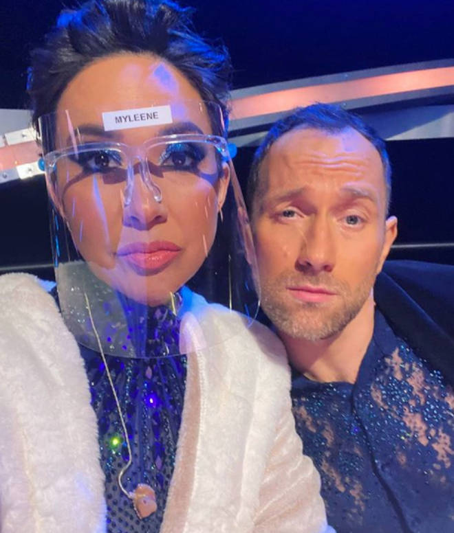 Myleene Klass and Lukasz Rozycki were the first couple voted off Dancing on Ice