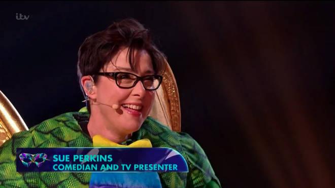Sue Perkins was unmasked as Dragon
