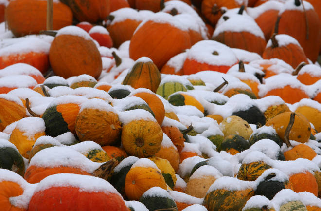 The Met Office said snowy Halloween's aren't uncommon but autumn 2018 has been too warm for any