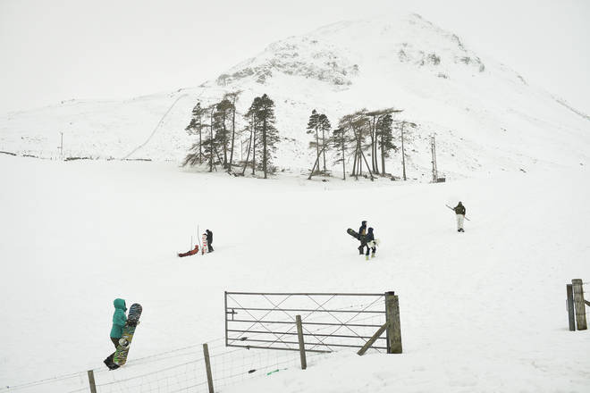 Storm Darcy brought heavy snow to Scotland over the weekend