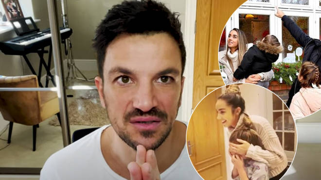 Peter Andre has said Emily wants to keep their kids' faces covered