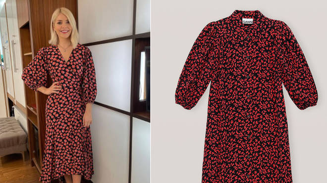 Holly Willoughby is wearing a dress from Ganni