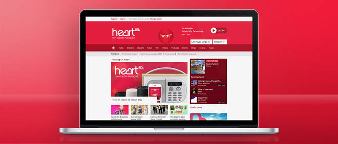 You can listen to Heart 80s online