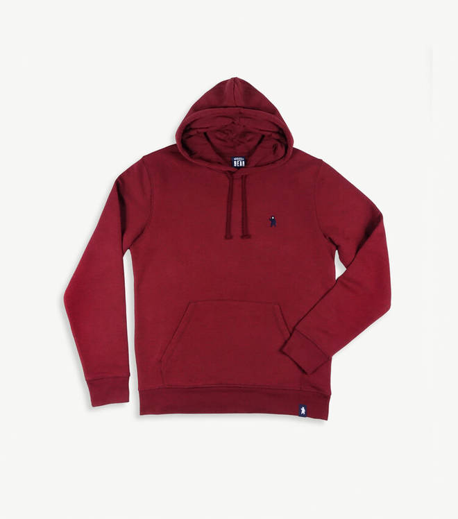 Elm Burgundy Organic Cotton Hoodie from Absolutely Bear