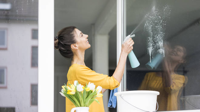 You can make your own window cleaner with vinegar