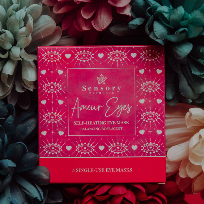 The restorative rose scent of the masks helps balance and clam the mind