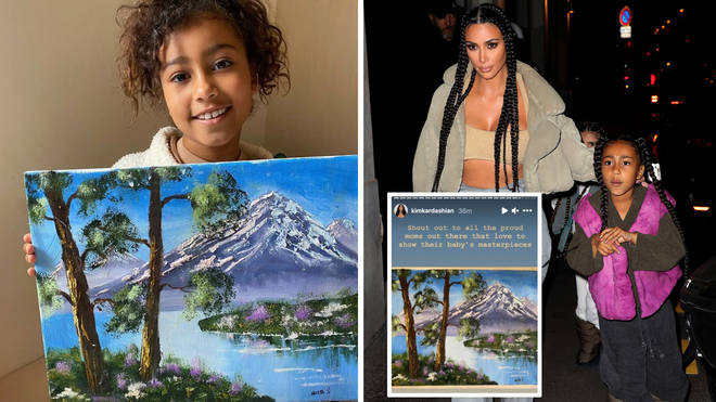 Kim Kardashian hit out at people that didn't believe daughter North West had painted the scenic masterpiece