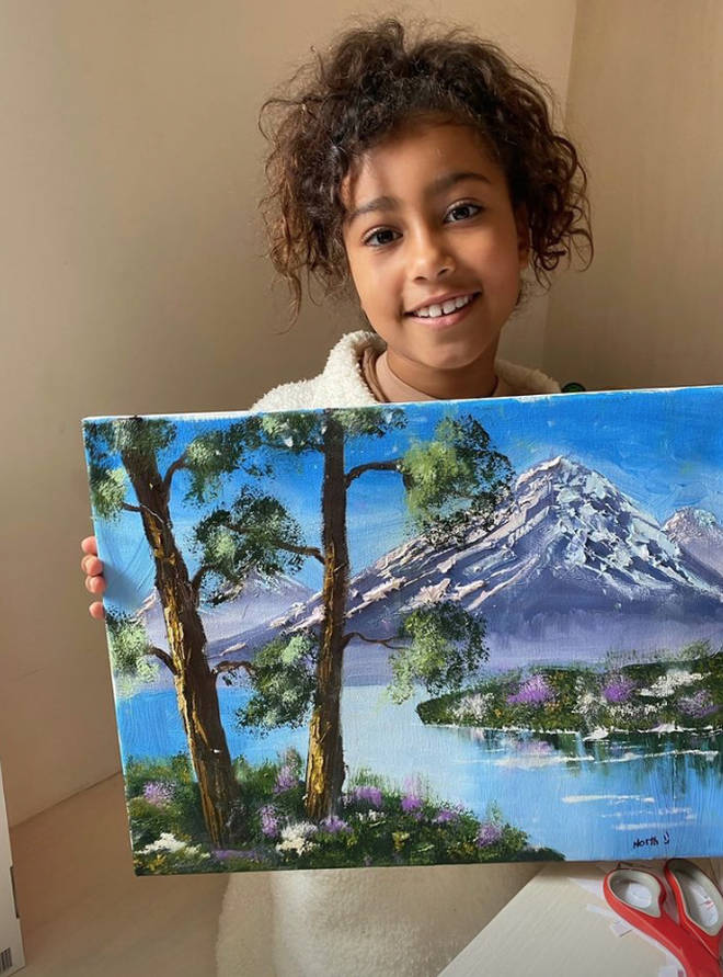 Kim Kardashian explained that daughter North had been going to oil painting classes