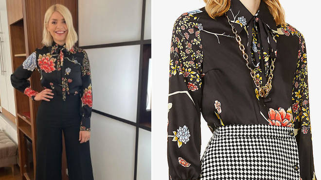 Holly Willoughby's shirt is from Victoria Beckham
