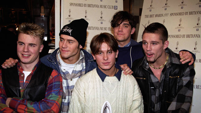 Take That in 1993 from L to R: Gary Barlow, Howard Donald, Mark Owen, Robbie Williams and Jason Orange