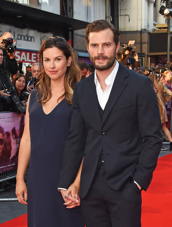 Jamie and Amelia attend a red carpet premiere of 'A Private War'