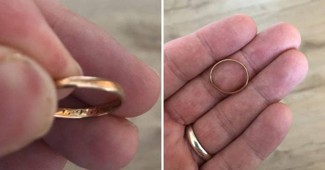 man loses wedding ring