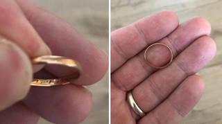 man loses wedding ring