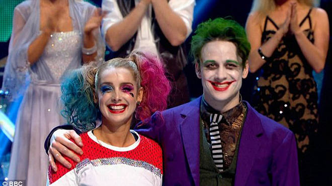 Louise Redknapp and Kevin Clifton during Halloween week in 2016