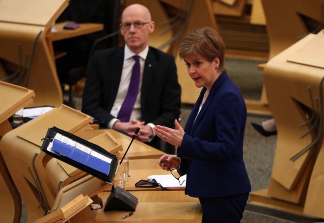 Nicola Sturgeon spoke to Scottish Parliament on February 16th