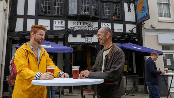 People in England may be able to return to the pub in May