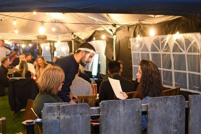Pubs were allowed to open in summer last year with Covid measures in place