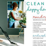 A woman has shared a cleaning schedule she follows at home