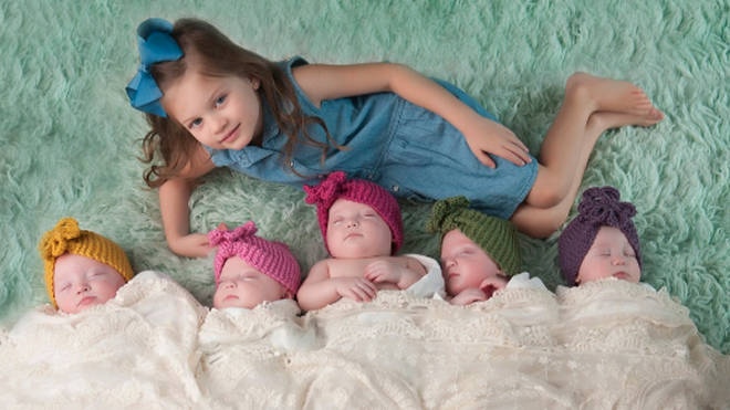 The five babies are now five-years-old